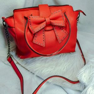 Authentic red Betsey Johnson purse handbag